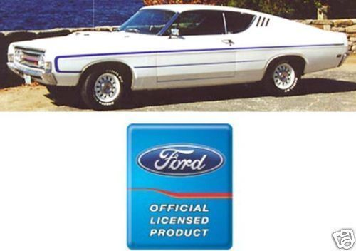 1969 Fairlane//Torino fastback reflective /'C/' stripe kit Ford licensed 4 colors