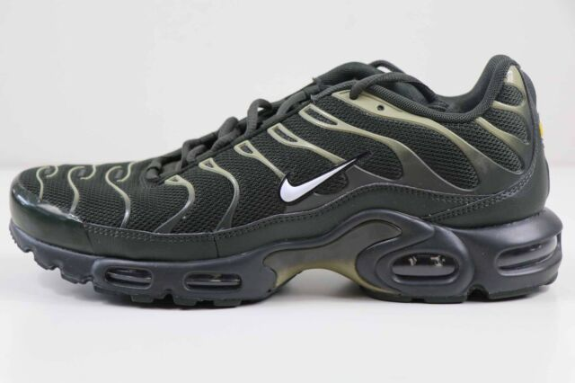 hot sale online fe7b9 fd314 Nike Air Max Plus Sequoia White Neutral Olive Green 852630 301 Size 8 New