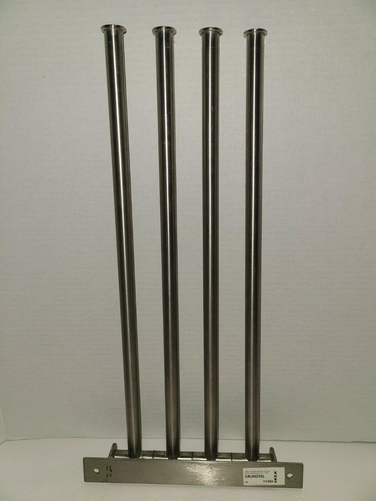 IKEA GRUNDTAL 600.478.96 Stainless Steel 4 Swing Arm Swivel Towel Holder 15386