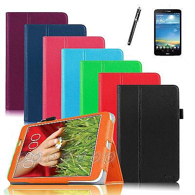 "PU Leather Case Cover for LG G Pad Verizon 4G LTE VK810 V510 V500 8.3"" Tablet"