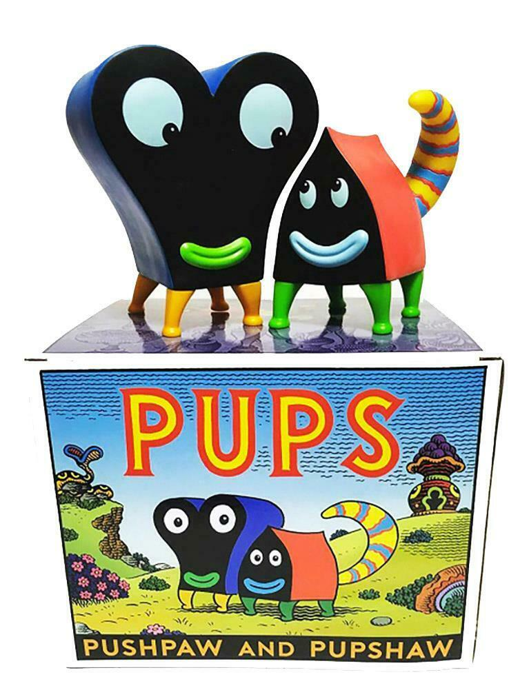 Pupshaw & pushpaw Couleur Edition DESIGNER Vinyl Toy Figure Jim WOODRING PRESS POP