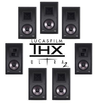 Klipsch Speaker THX Ultra 2 In Wall 7 Channel PRO-7800 L PRO-7800 S Home Theater