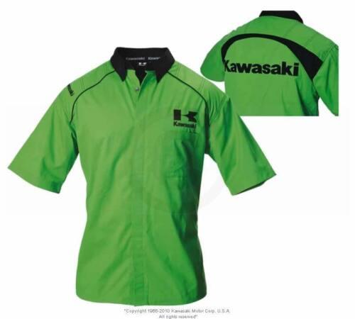 Kawasaki Paddock Pit Shirt Green MED
