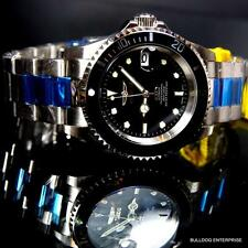 Invicta Pro Diver Steel Silver Tone Black NH35A Automatic Watch Coin Bezel New