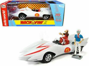 AUTO-WORLD-AWSS124-SPEED-RACER-MACH-5-Chim-Chim-amp-Speed-Racer-figure-1-18th