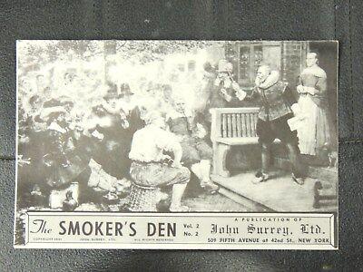 1941 THE SMOKER'S DEN VOL 2 NO 2 JOHN SURREY LTD PIPE CATALOG VERY