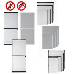 Fliegengitter-Insektenschutz-Fenster-Tuer-Mueckenschutz-Alurahmen-Mueckengitter-Set