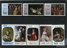 SHARJAH 1968 Mi#426-433A PAINTINGS SET OF 8 STAMPS MNH