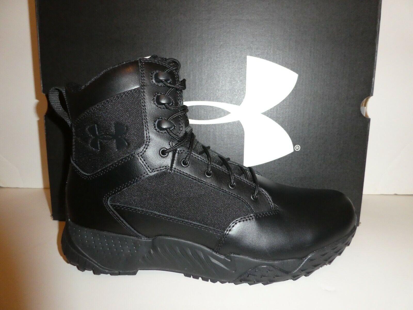 "Under Armour 1303129 Men/'s Stellar 8/"" Side Zip Tactical Boots 11.5 Black"