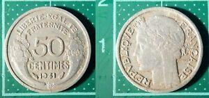 50-Centimes-Morlon-1941-France-Aluminium-Piece-de-Monnaie
