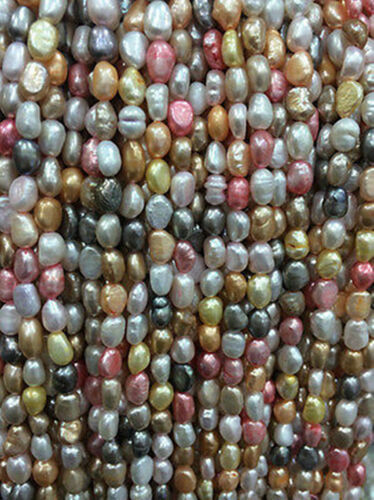 """Hot Sale!5-6mm Multi-Coloured Freshwater Cultured Pearl Loose Beads 13/"""""""