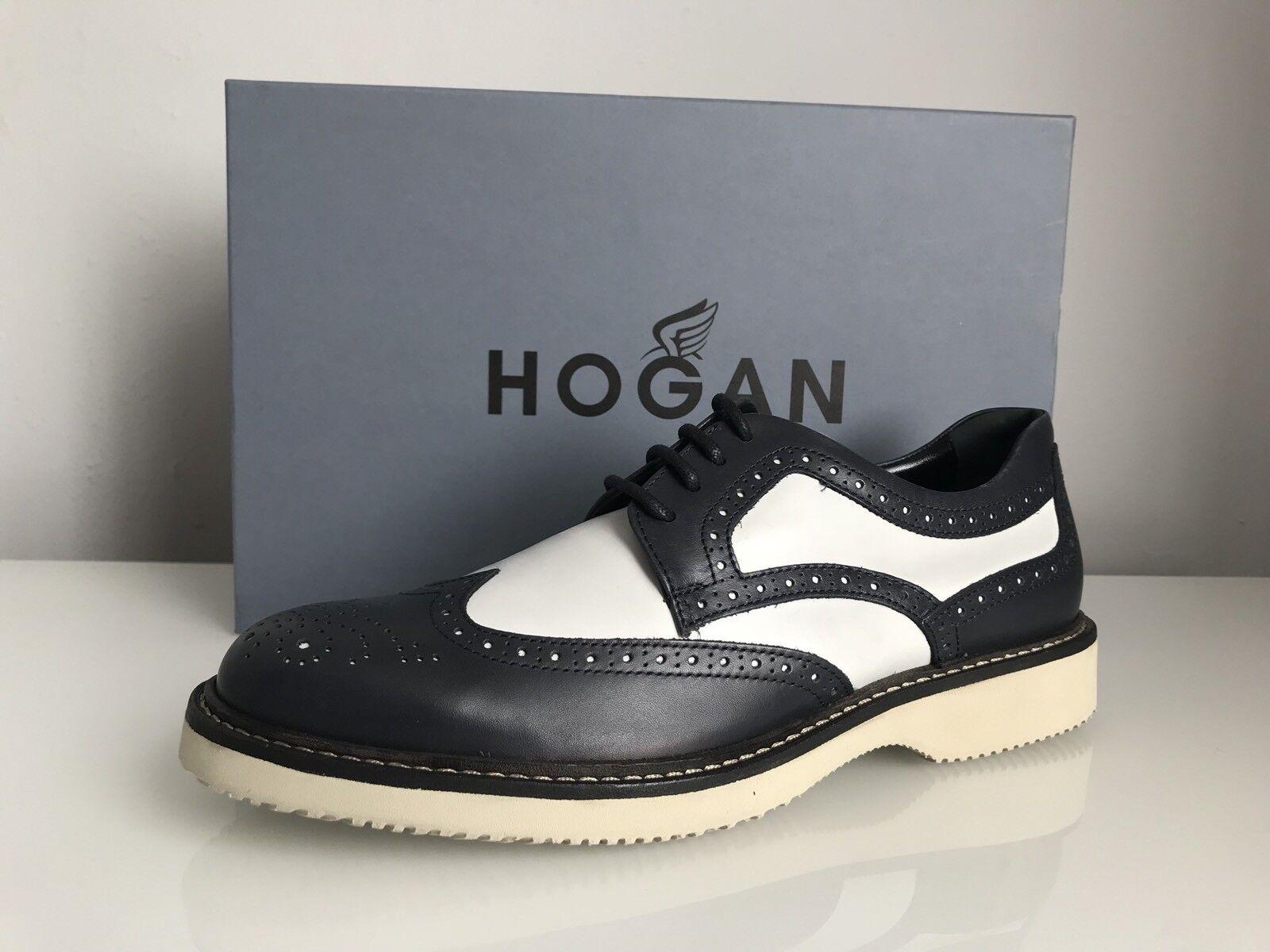 Hogan Hogan Hogan H217 Route Derby Bucature Spezzato Leather schuhe In Dark Blau Größe UK 8 af239f