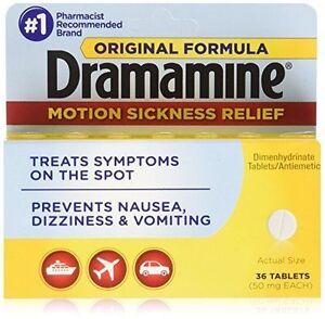 New-Dramamine-Motion-Sickness-Relief-Original-Formula-36-Tablets-50-MG-EA