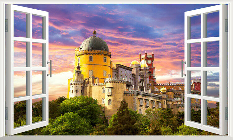 3D Europäisches Schloss 905  Tapete Wandgemälde Tapete Tapeten Bild Familie DE