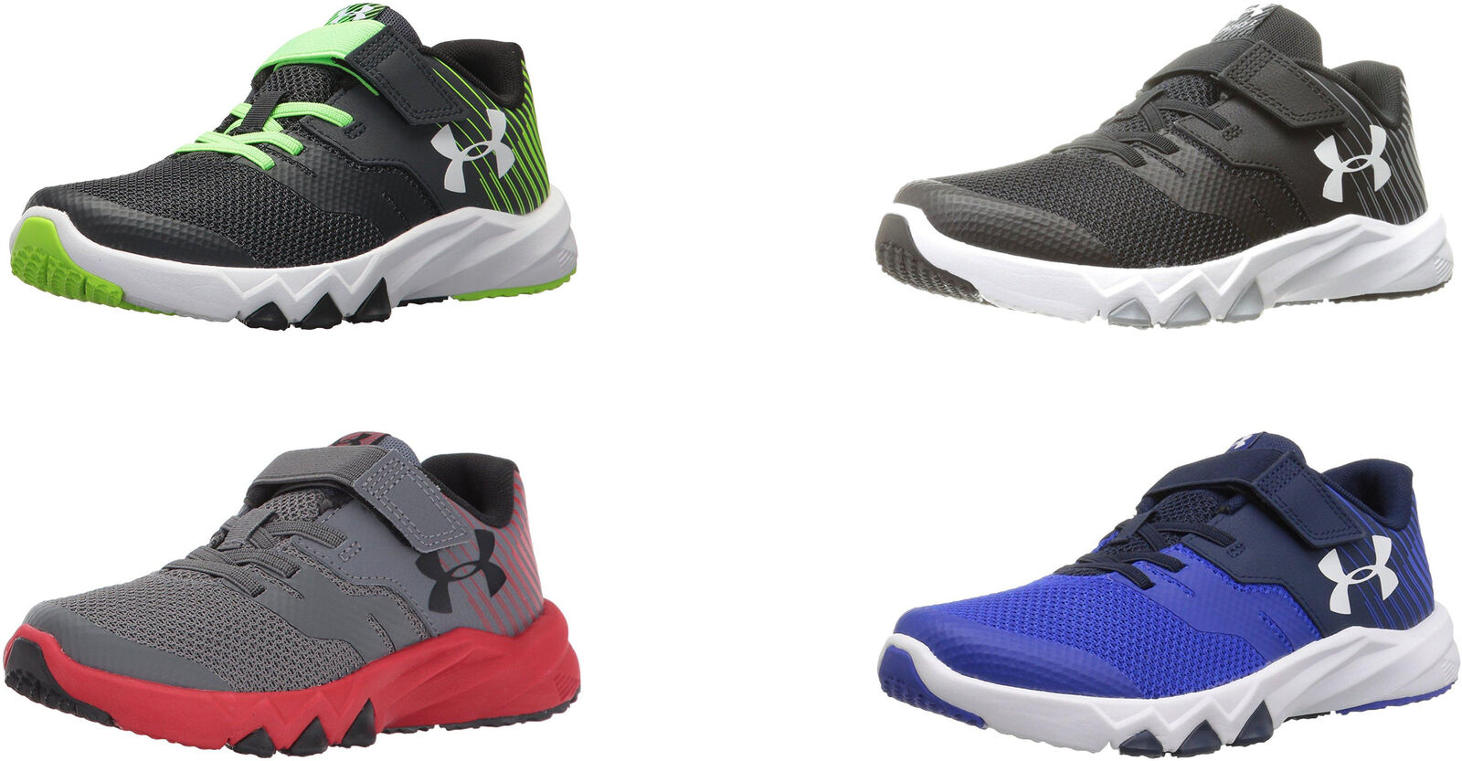 a438506f6cbd0 Details about Under Armour Boys Pre School Primed 2 Adjustable Closure  Running Shoes, 4 Colors