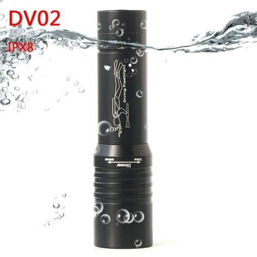 Z15DV02 Diving LED Flashlight Torch 3800Lm XM-L T6 Dive Underwater 80 Meter