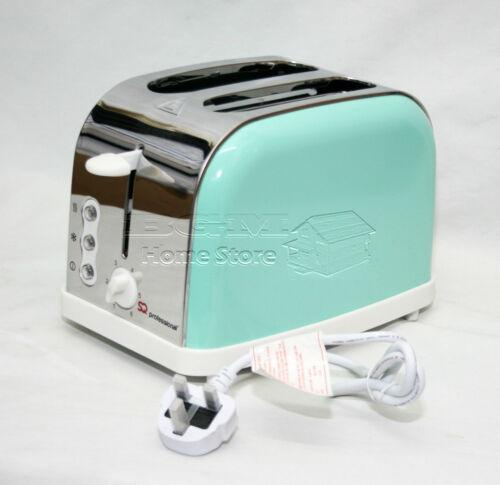Ecume de mer vert 900W 2 deux slice large fente grille-pain quick toaster dégivrage réchauffer func