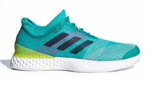 3fb0fbeadf9 adidas Adizero Ubersonic 3 M III White Green Men Tennis Shoes ...