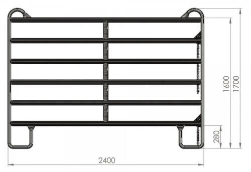 Kerbl Weidepanel 2,4 m Panel mobiles Zaunelement 442591