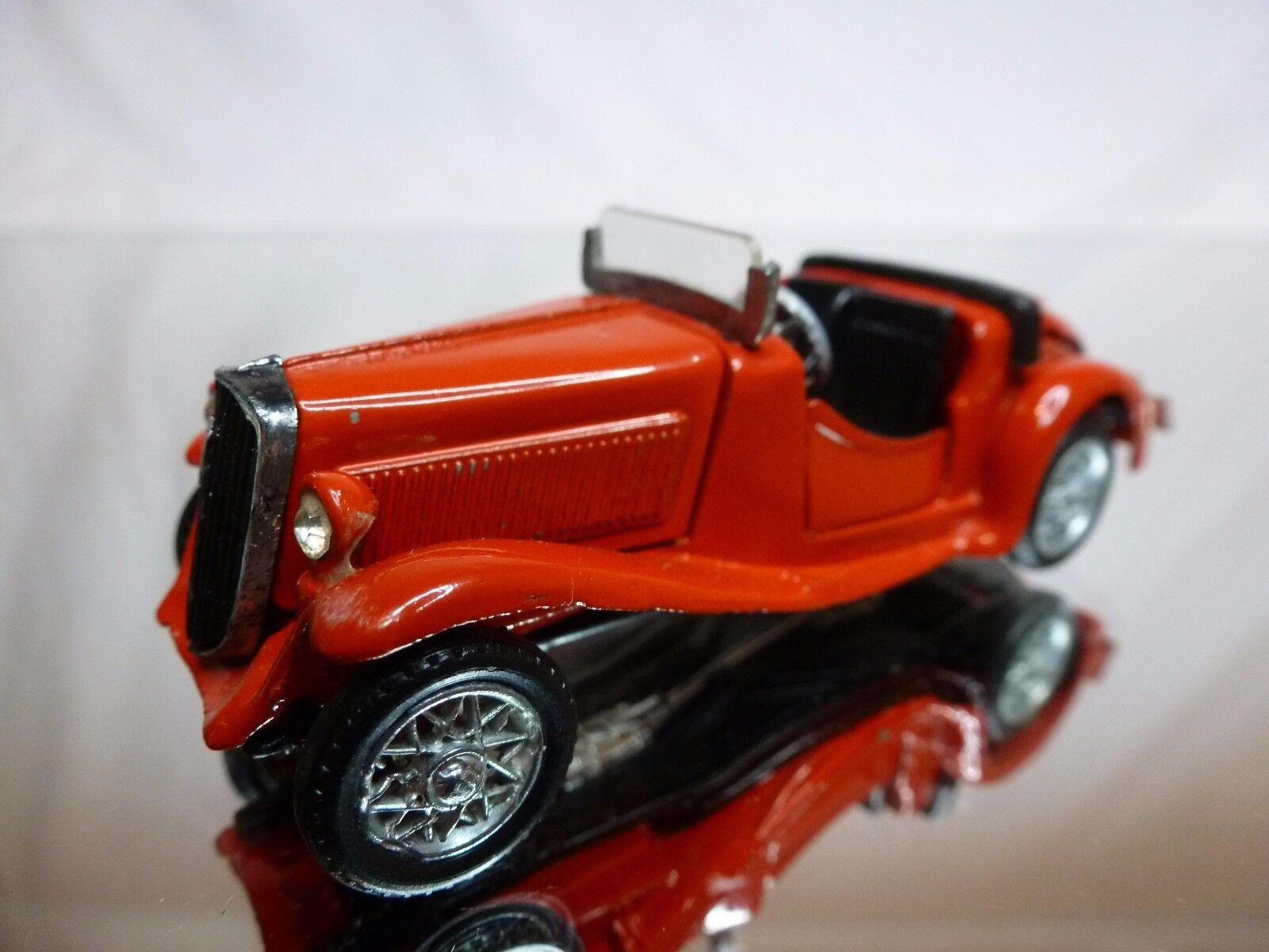 METAL KIT (built) FIAT 508 BALILLA CABRIOLET - rojo 1 43 - GOOD CONDITION