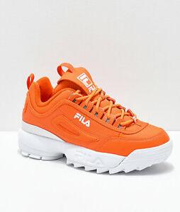 Détails sur Neuf Femmes Fila Disruptor II Chaussures Oranges Deux 2