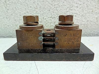 50 MV *NEW* Lot Of 2 Westinghouse AN-3200-450 Aviation Aircraft Shunt 450 AMP