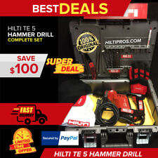 Hilti Te 5 Hammer Drill Preowned Free Heavy Duty Case Fast Shipping