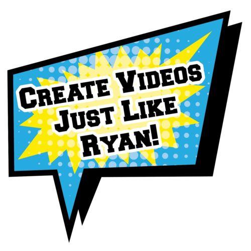 FREE SHIPPING Ryan/'s World VIDEO CREATION KIT NEW