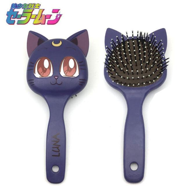 Sailor Moon Luna Cat Paddle Cushion Curl Hair Massage Brush Comb Hairbrush New