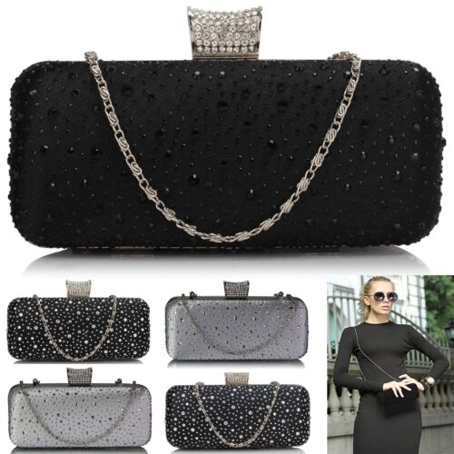 Diamante Clutch Bags For Women Party Ladies Evening Handbags Prom Designer Purse