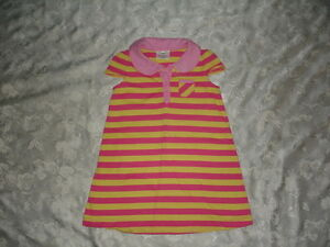 NICE-Girls-HANNA-ANDERSSON-Striped-DRESS-Size-100-4T