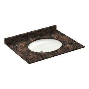 31-034-Vanity-top-with-sink-4-034-spread-Granite-Baltic-Brown-LessCare-PICK-UP-ONLY