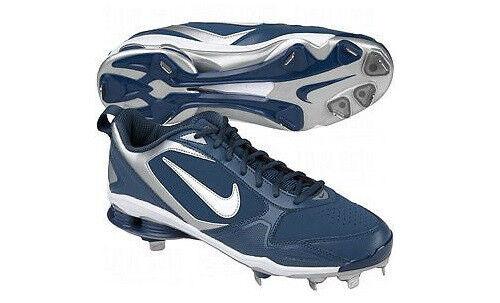 New Men's Nike Shox Fuse 2 Metal Baseball Cleats Blue Size 15 Retail 115
