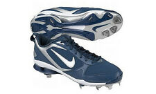 New Men's Nike Shox Fuse 2 Metal Baseball Cleats Blue Size 15 Retail $115