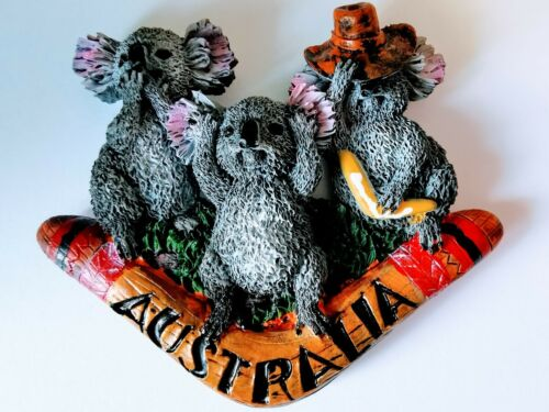 Australia Koala Bears 3D Resin Tourist Travel Souvenir Collectable Fridge Magnet