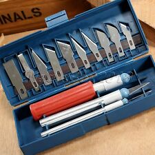 13 Blades 3 Handle Woodworking Chisels Wood Carving Carver Working Hand Tool Set