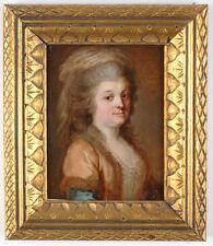 "Joseph Friedrich August Darbes -Attrib. ""Portrait of a Lady"", oil miniature"
