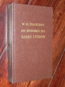 William Makepeace Thackeray - Die Memoiren des Barry Lyndon (Rütten & Loening) - <span itemprop='availableAtOrFrom'>Altlandsberg, Deutschland</span> - William Makepeace Thackeray - Die Memoiren des Barry Lyndon (Rütten & Loening) - Altlandsberg, Deutschland