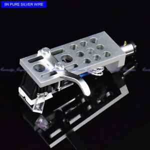 New-10pcs-lot-MM-cartridge-pure-silver-wire-CNC-headshell-assembly-7S6ZSPSW