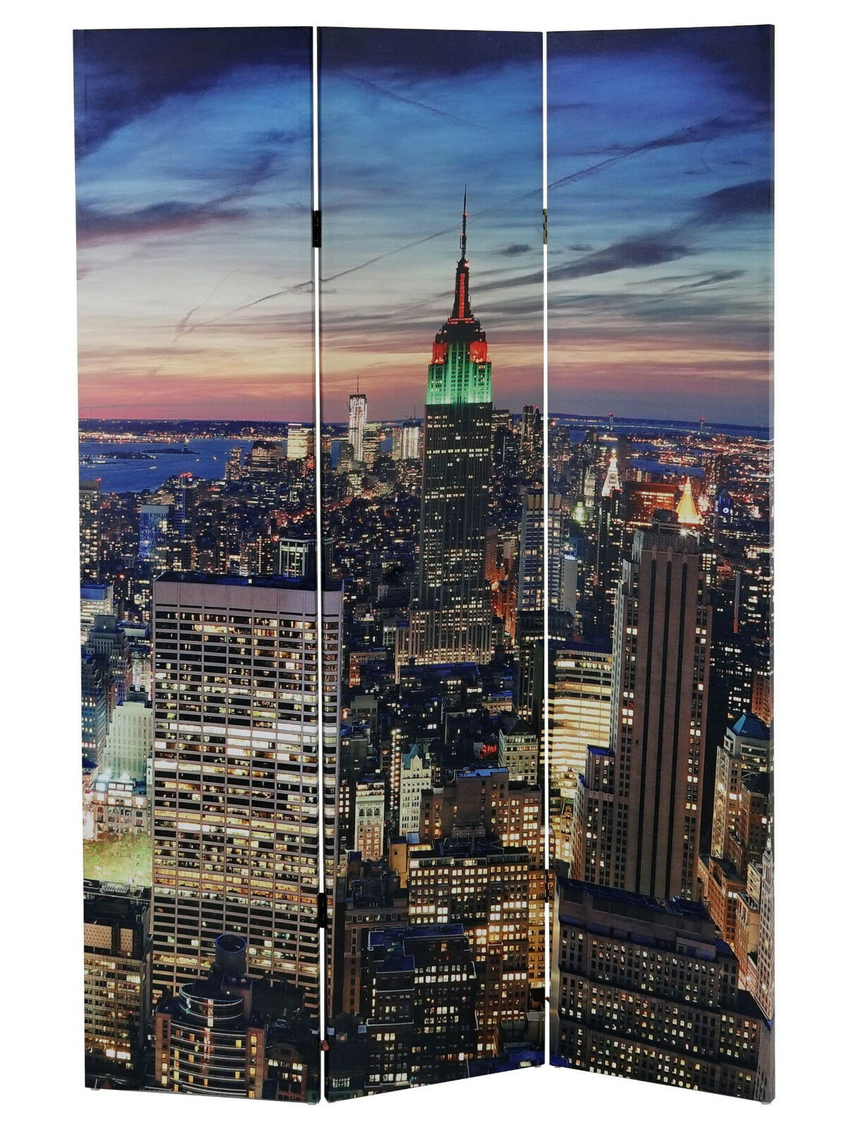 180x120 LED RAUMTEILER NEW YORK PARAVENT NETZBETRIEB TIMER PARAVANT RAUMTRENNER