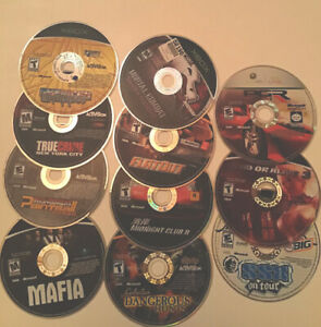 Lot-of-11-Video-Games-Microsoft-Xbox-360-Games-Discs-Only-Untested-DOA-Flatout