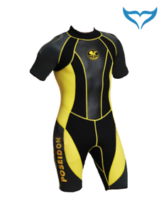 Poseidon-WETSUIT-Journey-Shorty-XS-XXL-3mm-NERO-GIALLO-NEOPRENE-Female-N-DA-DONNA