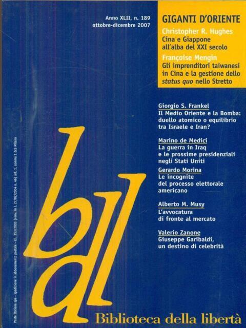 BIBLIOTECA DELLA LIBERTA' 2007/189  AA.VV. GUERRINI E ASSOCIATI 2007