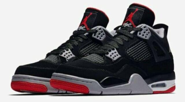 Nike Air Jordan 4 Retro GS Black Fire Red Cement
