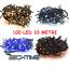 SERIE-CATENA-LUMINOSA-LUCI-DI-NATALE-100-LED-PER-INTERNO-ED-ESTERNO-10-METRI miniatura 1