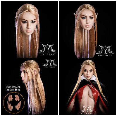 YMtoys 1//6 YMT09B Elf Beauty Head Sculpt Detachable Ears F Female Figure action