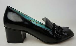 ae5f278d19b Gucci Black Tonal Patent Marmont GG Logo Fringe Loafer Pumps Size 36 ...