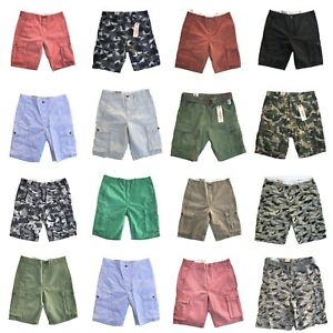 NEW-MENS-LEVIS-RELAXED-FIT-ACE-CARGO-SHORTS-ZIPPER-FLY-CAMO-BLACK-BLUE-GRAY-RED