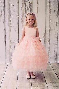 Flower-Girl-Dress-Pageant-Birthday-Wedding-Formal-Recital-Tutu-BallGown-Princess