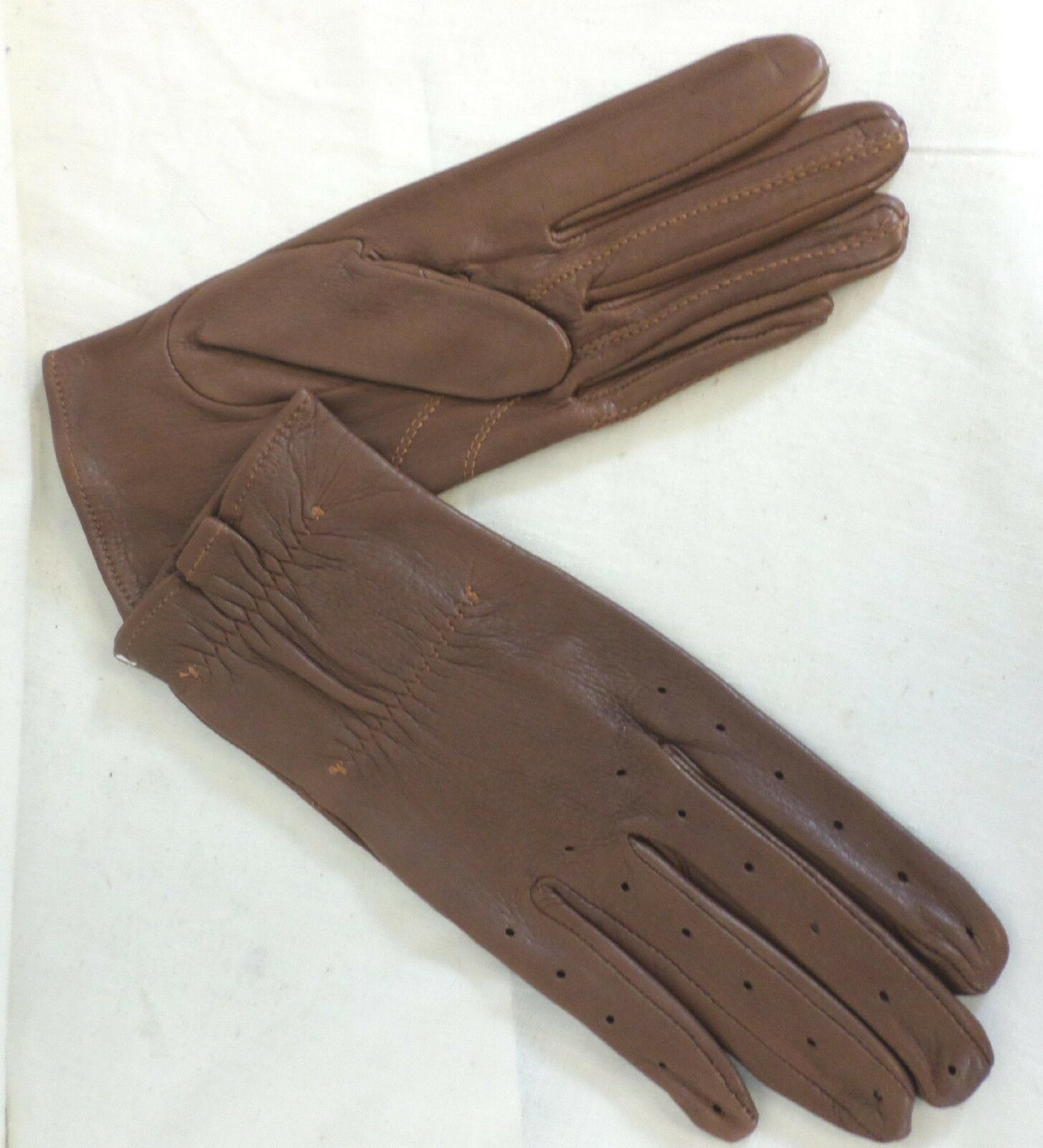 Reed Hill  Herren Leder Show Gloves Acorn Braun SMALL  -MADE IN USA